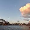 Famous Sydney Opera House and Sydney's Bridge over Port Jackson