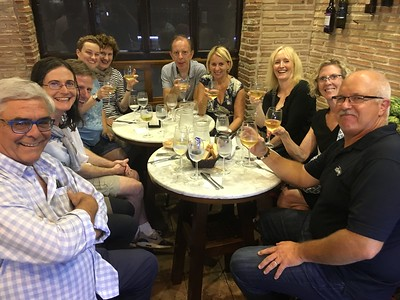 Wine and tapas tour group