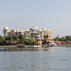 Day 2 - On our way to Lunch to  The Oberoi Udaivilas. View of Leela from the boat