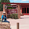 JoAnn at the Canyon De Chelly Visitor Center