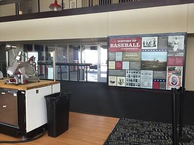 Lots of interesting  baseball history is displayed