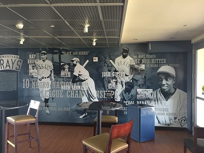 Lots of space is devoted to displaying the Negro League