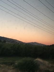Gorgeous sunset outside of Wenatchee