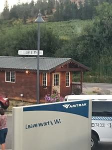Quaint little station in Leavenworth