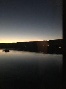 Glorious twilight as we head for Spokane