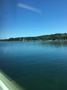 First leg: ferry to Seattle