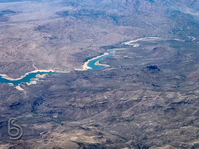 Colorado River near Phoenix, from the air
