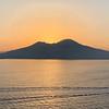 sunrise in Naples of Mt. Vesuvius