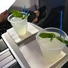 Jetblue Mint signature cocktail: mint limeade (with or without vodka)