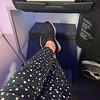 Jetblue Mint service (first class). Lie flat seats!