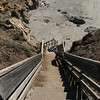 Stairs down to the walk on beach.