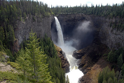 Helmcken Falls in Wells Gray park.  It is the fourth highest waterfall in Canada.