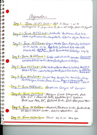 Day-0 Itinerary and Journal