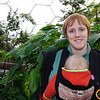 Sarah and Eve at the top of the Humid Tropics biome at The Eden Project