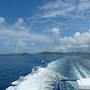 Looking back towards St. Thomas in the wake of our ferry.