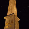 The Egyptian Obelisk at night...a remarkable gift to France