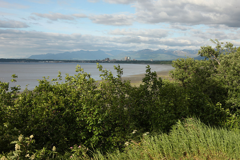 A view of Anchorage on Saturday evening