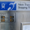 Train Info Display.<br /> Pretty rudimentary compared to the ones here in Japan and also showing more senseless vandalism.