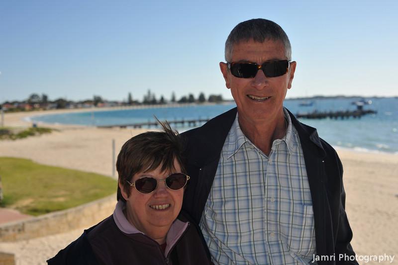 Mum and Dad at Rockingham.