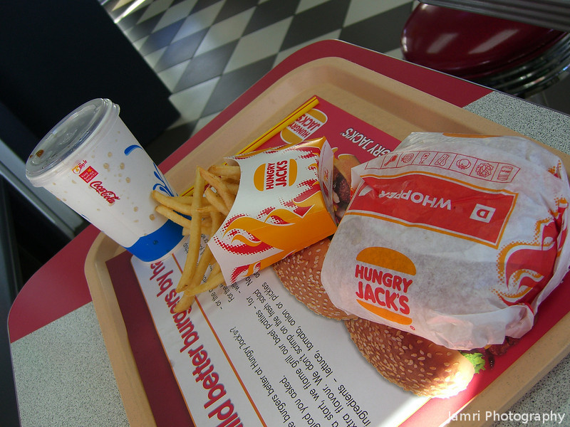 Whopper Value Meal.<br /> It was the first time in about two years that I'd had one of these! Yes, there is Burger King in Japan which equals Hungry Jacks in Australia, but it hasn't made it out to Kansai yet.