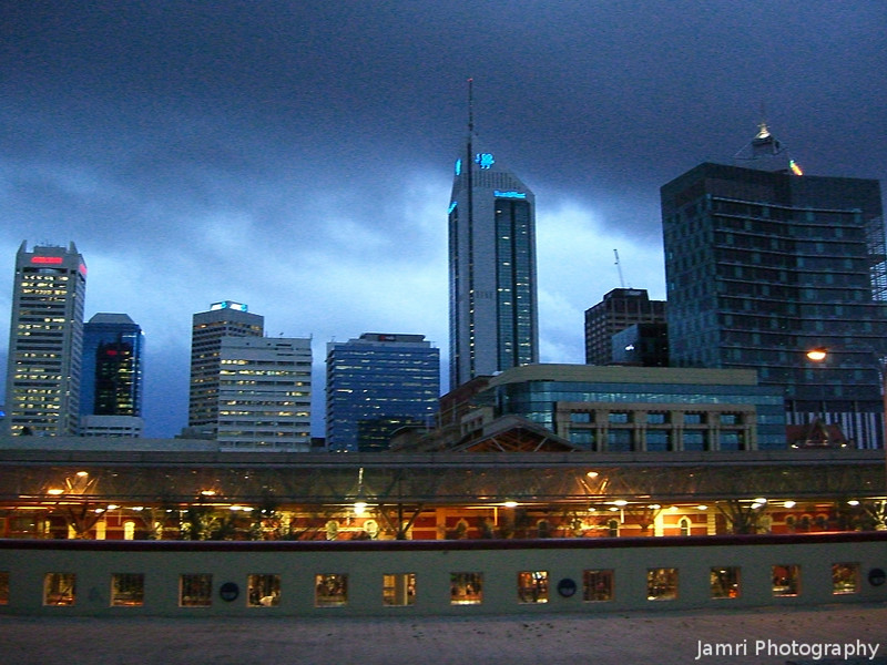 Perth in the Early Evening.<br /> Taken from just outside the art gallery.
