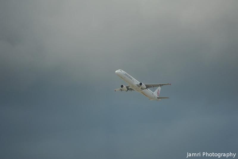 Dragon Air.<br /> From Hong Kong Airport.