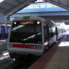 Train at Thornlie Station.<br /> The first train that we caught on the way to watch the Fremantle Dockers take on the Sydney Swans.