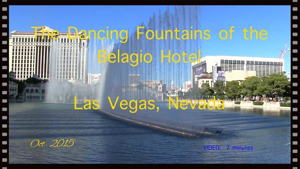 The dancing Fountains of the Belagio Hotel2