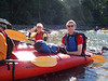 Martin and Cindy at the start of kayak