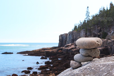 Cairn at Otter Cliff