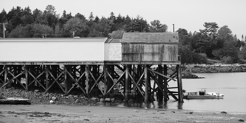 Shed on Pier in Prospect Harbor.