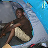 Andrew in the kitchen tent.