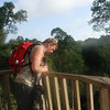 Tim on the Canopy walk in Kakum National Park.