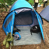 My tent for the four days in Nsutu forest.