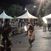 Fire dancer at WFNS reception, Marrakech.