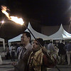 Fire eater at WFNS reception, Marrakech.