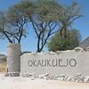 Entry gate to Okaukuejo Rest Camp, Etosha NP, Namibia