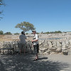 Our guide, Chris Lotz and Alan at the waterhole, Okaukuejo Rest Camp, Etosha NP, Namibia