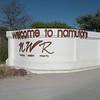 Entrance to Namutoni Camp, Etosha NP, Namibia