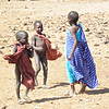 The children come to see us in the first Maasai village we visited.