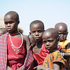 Maasai children waiting for a sweet from Lazaro.