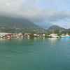 Leaving Port Victoria on Mahe headed for Praslin