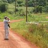 Roadside birding near Lake Victoria.