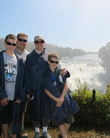 Jay and Family at Victoria Falls