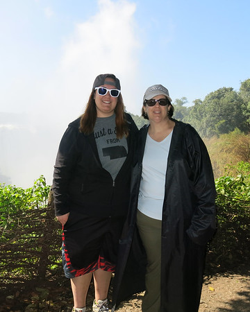 Andie and Lindsey Victoria Falls