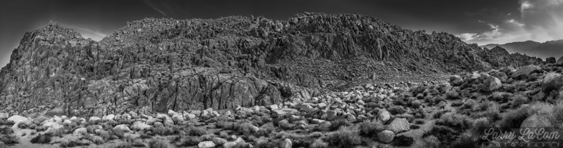 Alabama Hills; the sky was affected by smoke from wildfires burning out of control all over California