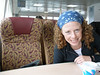 emily on the high-speed ferry (the fairweather) between haines and juneau