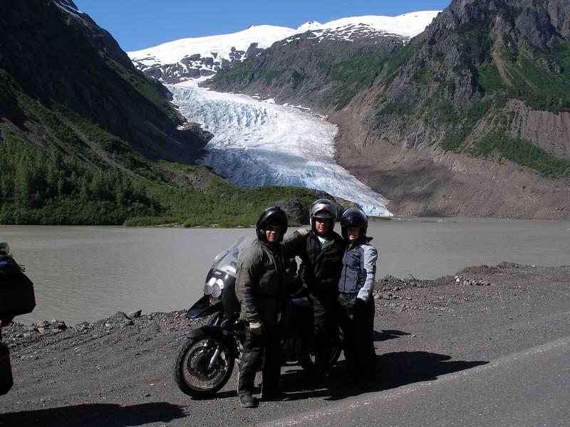 emily, carlos, and carlos @ bear glacier (from here they head south for el salvador, we head north)