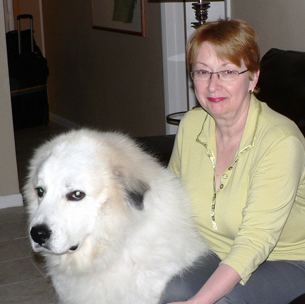 Mom and Shadow before I left.