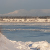 This is looking across Knik Arm at Mount Susitna, also called Sleeping Lady by native Alaskans.